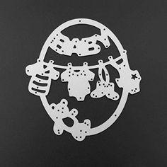 3 Pcs Pierced Frame Cutting Dies,Letmefun Metal Cutting Dies Scrapbooking Steel Cutting Dies Stencils Embossing DIY Card Photo Album Template Metal Craft