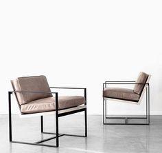 Der Manhattan Stuhl ist mit hochwertigen sattelbraunen Leder bezogen. Hier…