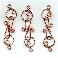 Handmade Copper S Clasps Wire Wrapped Findings 3 Sets