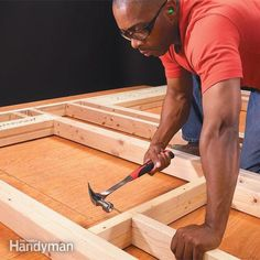 Learn the simple framing techniques that ensure accurately built, tightly framed walls. This article explains how to frame a wall. Sawhorse Plans, Workbench Plans, Framing Construction, Wood Construction, Home Repairs, Do It Yourself Home, Diy Home Improvement, Frames On Wall, Home Projects