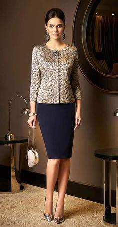 Modele de tailleur jupe veste femme