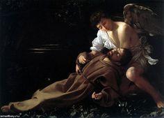 Блаженство святого Франциска.Караваджо Микеланджело (Caravaggio) (1573–1610).