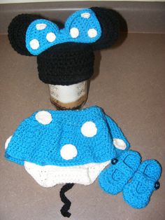 Minnie Mouse Ears Baby Photo Prop Newborn Hat by LetsBeBeautiful, $40.00