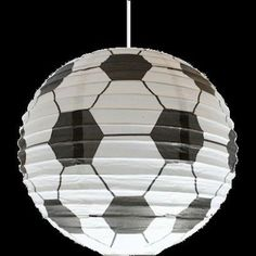 Paper Ball Bedroom CEILING LANTERN Football Motif An really effective affordable way to add a splash of character fun and colour to any child s Boys Football Bedroom, Football Rooms, Kids Bedroom Boys, Boy Room, Football Decor, Boy Bedrooms, Soccer Room, Soccer Theme, Football Lights