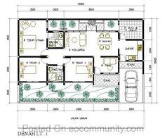 denah rumah 3 kamar ukuran 7x12 2