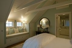 attic to look a bit like this--tonque and groove. ceiling--
