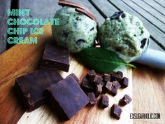 Smooth and creamy - this mint chocolate chip ice cream is the bomb! (from my site www.exsugarholic.com)
