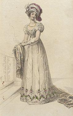Ackermann's Repository, August 1822. Evening Dress.