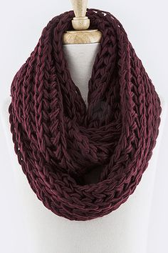 Earth Tone Cozy Knit Scarf