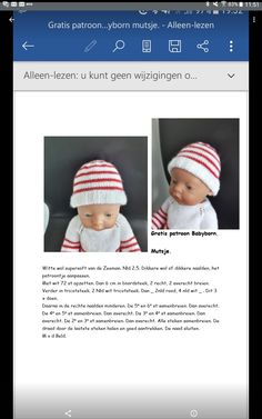 Baby Pop, Baby Bjorn, Doll Clothes, Knitting Patterns, Crochet Hats, Dolls, Caps Hats, Tricot, Dressing Up