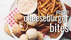 VEGAN CHEESEBURGER BITES | hot for food
