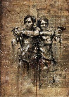 Glenn and Maggie ~ The Walking Dead