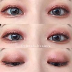 Kiss Makeup, Love Makeup, Makeup Inspo, Makeup Inspiration, Makeup Looks, Asian Make Up, Korean Make Up, Eye Make Up, Korean Makeup Look