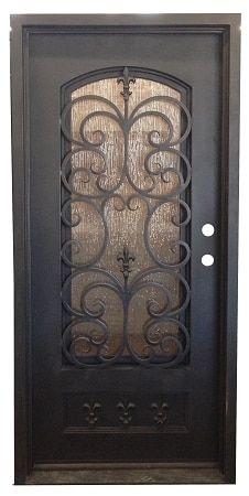 Fleur De Lis Wrought Iron Door