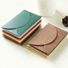50pcs/lot Handmade Mini Envelopes Vintage Colored Pearl Blank Paper Envelope Wedding Invitation Envelope Christmas Gift Envelope