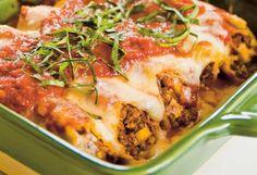cannelloni, dania główne, dania z makaronem, kuchnia włoska