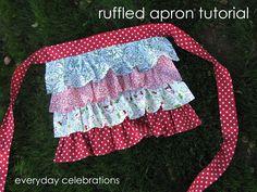 Everyday Celebrations: tutorial: Ruffled Half/Lap Apron
