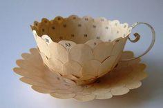 Une tasse de thé avec un bon livre / 3D . Concept . Suede / étapes: design & culture visuelle