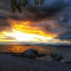 Sunset at Kits beach Kitsilano, Vancouver