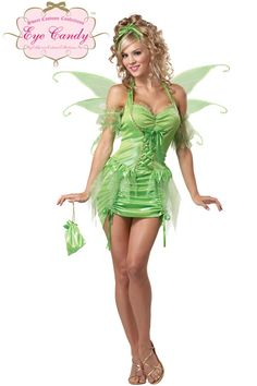 Tinkerbell Fairy Adult Costume $38.95 #halloween #costumes