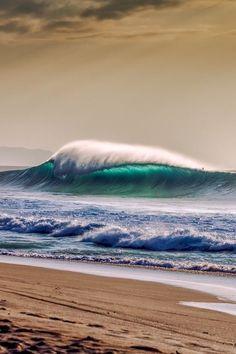 Cell phone wallpaper She and The Ocean beautiful ocean art waves Sea And Ocean, Ocean Beach, Ocean Art, Palm Beach, Beautiful Ocean, Beautiful Beaches, Sea Waves, Am Meer, Beach Scenes