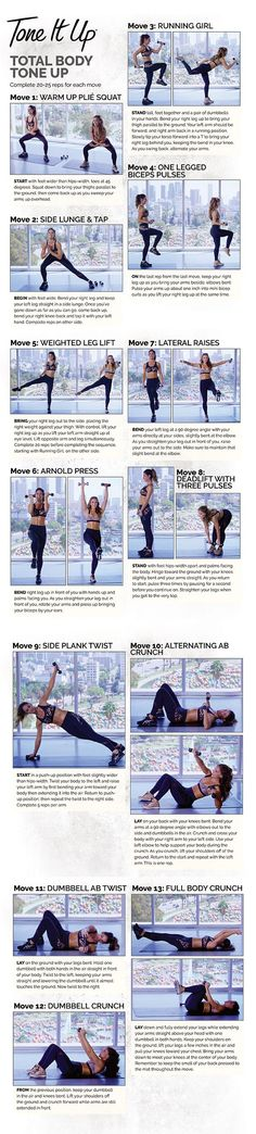 The next time you hit the gym be sure to follow this toning routine. | healthy recipe ideas @xhealthyrecipex |