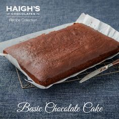 This delicious chocolate cake is easy to make and has a wonderful rich chocolate flavour with the addition of Haigh's 70% Cocoa Dark Pastilles. It can be decorated with a chocolate ganache to create a delicious birthday or celebration cake.