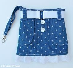 A Creative Princess: Little Girls Skirt Purse