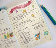 monthly, weekly and daily planning routine using bullet journal