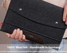 Tablet case felt leather iPad Air 2 Samsung by packandsmooch