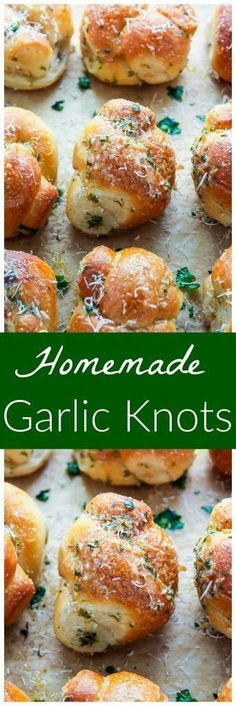 Chewy and delicious Homemade Garlic Knots! It doesn't get more delicious than this! Chewy and delicious Homemade Garlic Knots! It doesn't get more delicious than this! Bread Machine Recipes, Easy Bread Recipes, Baking Recipes, Garlic Bread Recipes, Easy Garlic Bread, Garlic Bread From Scratch, Homemade Garlic Bread, Garlic Rolls, Baked Pasta Recipes