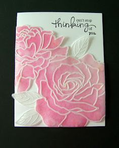 Vellum embossing and inking