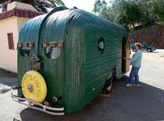 Rear view of 1934 restoration. | vintage travel trailer