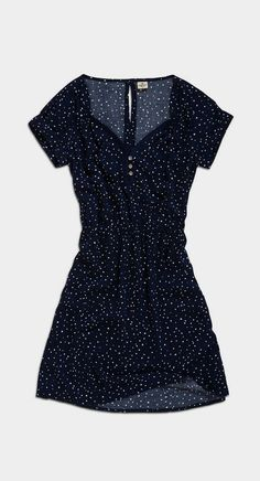 Ink Speckle Button-Up Dress