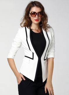 Shop White Half Sleeve Fitted Blazer online. Sheinside offers White Half Sleeve Fitted Blazer & more to fit your fashionable needs. Free Shipping Worldwide!