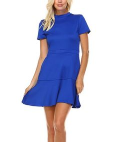 Another great find on #zulily! Keyhole Fit & Flare Dress #zulilyfinds
