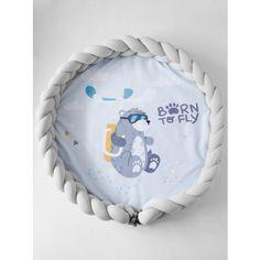 Luxury 2in1 fonott játszószőnyeg - Maci, világoskék, világos szürke, mustár Baby Crib Sets, Baby Cribs, Peek A Boos, Mac, Pillows, Products, Baby Crib, Cushions, Pillow Forms