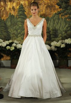 Anne Barge - Top 12 Looks from Bridal Fashion Week Beaded Wedding Gowns, White Wedding Gowns, 2015 Wedding Dresses, Wedding Attire, Chic Wedding, Bridal Gowns, Wedding Styles, Dream Wedding, Bridesmaid Dresses