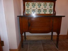Antique Victorian Wash Stand with Tiled Back Marble Top   eBay