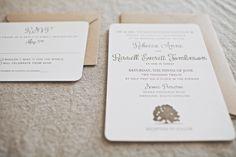 Oak Tree Rustic Wedding Invitation Charleston, SC | dodeline: charleston graphic design, wedding invitations, modern stationery, + web