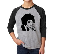 Jimi Hendrix Unisex Kids Raglan Tee, Teenager Baseball Tee, Rock Teen Shirt, Personalized Son Gift, Custom Nephew Gifts, Monofaces Shirt by MONOFACESoCHILDREN on Etsy Nephew Gifts, Sons Birthday, Shirts For Teens, Raglan Tee, Bob Dylan, Jimi Hendrix, Teenagers, Teenage Gifts, Gift Ideas