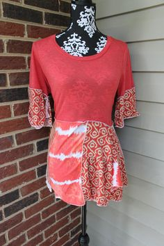 Womens Upcycled Bohemian Tshirt Dress/Tunic ooak altered couture festival hippie redesign upcycled