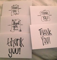 Set of 5 Custom HandWritten Greeting Cards by meghansimonett, $10.00