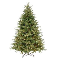 The Holiday Aisle Itasca Frasier Green Fir Trees Artificial Christmas Tree with 1000 LED Clear/White Lights with Stand