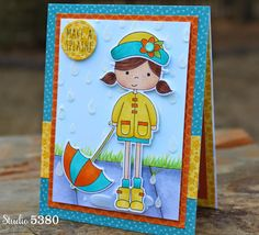 """Studio 5380 Image is from the """"Abby's Spring Showers"""" stamp set by Simon Says Stamp."""