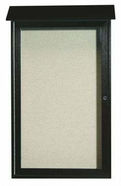 PLD4226-4. Green Single Hinged Door Plastic Lumber Message Center with Vinyl Posting Surface. 42″ High x 26″ Wide