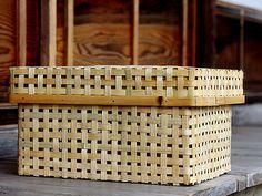 竹虎 虎斑竹専門店竹虎 一閑張り行李 行李 一閑張り 収納 収納籠 収納箱 柿渋 土佐和紙 和紙 掃除 自然素材 bamboo Japanesepaper storagecase cleanup TAKETORA