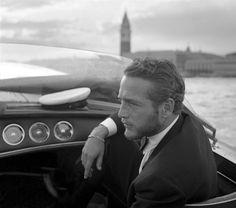 Paul Newman again, in Venice, in 1963.