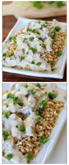 Slow Cooker Creamy Chicken And Sausage from 365 Days Of Slow Cooking; this sounds great for a family friendly dinner from the slow cooker! [featured on SlowCookerFromScratch.com]