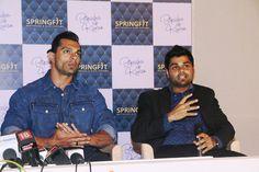 Karan Singh Grover & Nitin Gupta - Executive Director, Springfit Mattresses at the brand's autograph collection launch